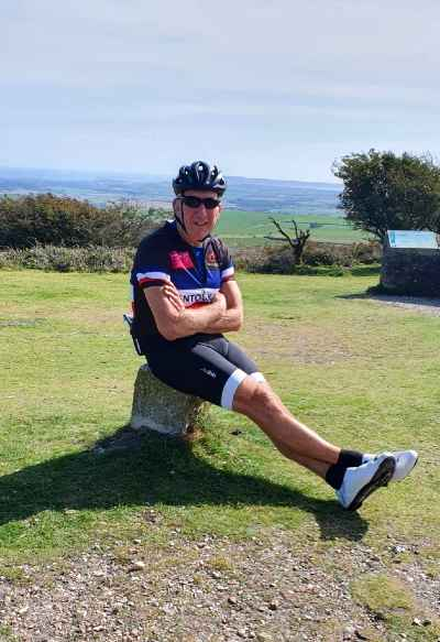 Bruce Elkins on a cycle challenge